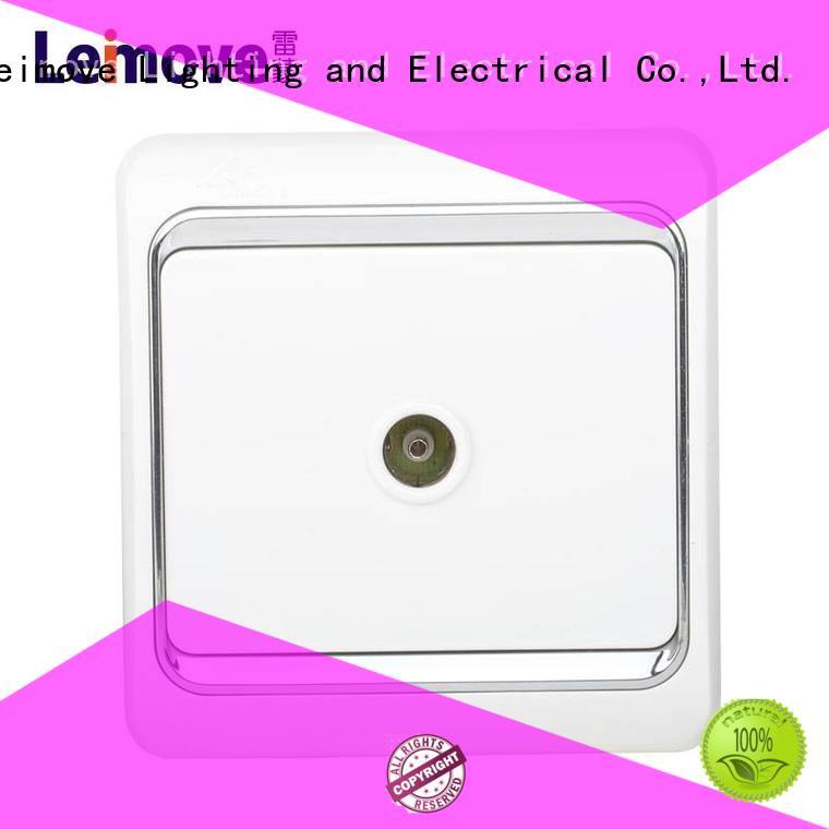 Leimove hot-sale white plug sockets high quality for tv