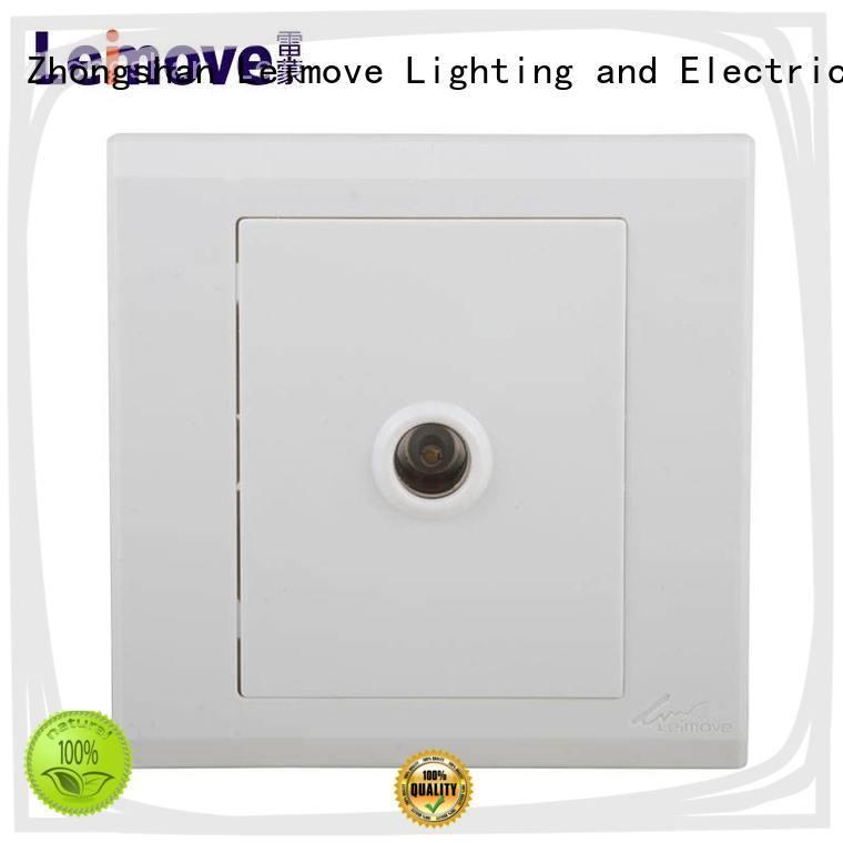 Leimove custom screwless white sockets top quality for telephone