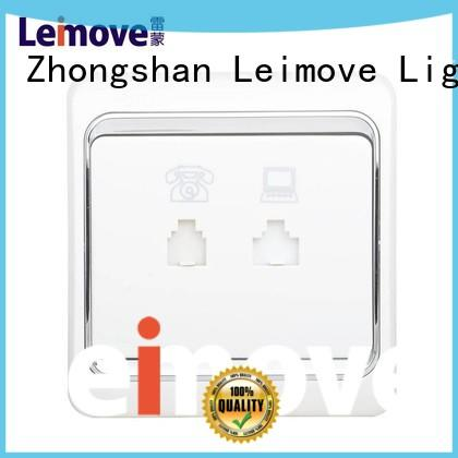 Leimove wholesale white electric sockets at discount for telephone